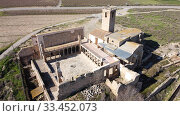 Top view of the monastery of Our Lady of Angels. Catalonia. Spain. Редакционное фото, фотограф Яков Филимонов / Фотобанк Лори