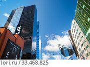 Tallinn, Estonia - MAR 14, 2020: The front view of swissotel in sunny day. Редакционное фото, фотограф Юлия Кузнецова / Фотобанк Лори