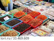 Вьетнамские продукты на рынке Чо Дам (Cho Dam). Вьетнам, город Нячанг (2015 год). Редакционное фото, фотограф Щеголева Ольга / Фотобанк Лори