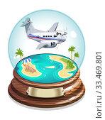 Купить «Vector Cartoon Summer Crystal Ball», иллюстрация № 33469801 (c) Александр Володин / Фотобанк Лори