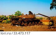 Tank and other war vehicles Cemetery in the Asmara, Eritrea, Стоковое фото, фотограф Zoonar.com/Sergey Mayorov / easy Fotostock / Фотобанк Лори