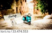 Купить «Street Sign the Direction Way to Startup», фото № 33474553, снято 2 апреля 2020 г. (c) easy Fotostock / Фотобанк Лори