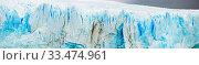 Купить «Vertical edge of glacier Perito Moreno», фото № 33474961, снято 6 июня 2020 г. (c) Яков Филимонов / Фотобанк Лори