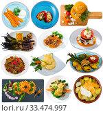 Купить «Set of vegetables dishes», фото № 33474997, снято 3 апреля 2020 г. (c) Яков Филимонов / Фотобанк Лори