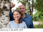 Russian mature couple in summer. Стоковое фото, фотограф Дарья Филимонова / Фотобанк Лори