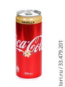 Купить «Coca-Cola Vanilla», фото № 33479201, снято 29 марта 2020 г. (c) Art Konovalov / Фотобанк Лори