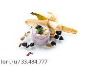Купить «home sweet banana yogurt in a glass jar», фото № 33484777, снято 1 апреля 2020 г. (c) Peredniankina / Фотобанк Лори