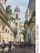 Купить «Hemingway's famous haunt La Bodeguita del Medio, Havana, Cuba.», фото № 33492881, снято 6 марта 2020 г. (c) age Fotostock / Фотобанк Лори