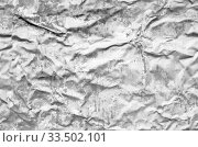 Crumpled gray metal surface, seamless texture. Стоковое фото, фотограф EugeneSergeev / Фотобанк Лори