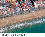 Купить «Aerial view of Calafell», фото № 33507533, снято 10 марта 2019 г. (c) Яков Филимонов / Фотобанк Лори
