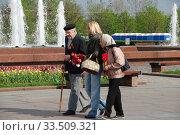 Купить «Ветераны Великой Отечественной войны во время праздника Победы 9 мая на Поклонной горе в Москве», эксклюзивное фото № 33509321, снято 9 мая 2010 г. (c) lana1501 / Фотобанк Лори