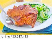 Купить «Meat with salad», фото № 33517413, снято 9 апреля 2020 г. (c) age Fotostock / Фотобанк Лори