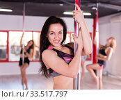 Female pole dancer. Стоковое фото, фотограф Яков Филимонов / Фотобанк Лори