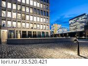Office building in the Europa-City Am Hamburger Bahnhof in Berlin-Moabit (2019 год). Редакционное фото, агентство Caro Photoagency / Фотобанк Лори