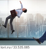 Купить «Bad angry boss kicking employee in business concept», фото № 33535085, снято 5 июля 2020 г. (c) Elnur / Фотобанк Лори