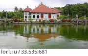 Pura Ulun Danu temple on the lake Bratan in Bali, Indonesia is a major water temple on Bali. Стоковое видео, видеограф Василий Кочетков / Фотобанк Лори