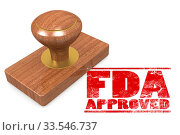 FDA approved red rubber stamp image with hi-res rendered artwork that could be used for any graphic design. Стоковое фото, фотограф Zoonar.com/Yann Tang / age Fotostock / Фотобанк Лори