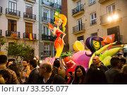 Купить «Comic figures on Falles celebration», фото № 33555077, снято 18 марта 2019 г. (c) Яков Филимонов / Фотобанк Лори