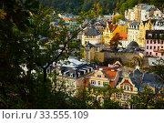 View of Karlovy Vary cityscape. Редакционное фото, фотограф Яков Филимонов / Фотобанк Лори