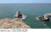 Video of Love Bridge at Cape Greco. Cyprus. Стоковое видео, видеограф Serg Zastavkin / Фотобанк Лори