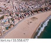 Купить «Aerial view of Torredembarra, Spain», фото № 33558677, снято 18 марта 2019 г. (c) Яков Филимонов / Фотобанк Лори