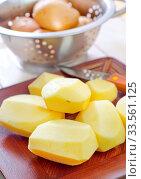Купить «Raw potato», фото № 33561125, снято 10 июля 2020 г. (c) age Fotostock / Фотобанк Лори