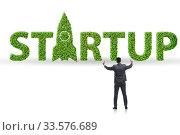 Купить «Concept of green start-up and venture capital», фото № 33576689, снято 4 августа 2020 г. (c) Elnur / Фотобанк Лори