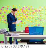 Купить «Businessman with many conflicting priorities», фото № 33579189, снято 23 мая 2018 г. (c) Elnur / Фотобанк Лори