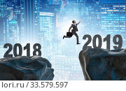 Concept of transition between 2018 and 2019. Стоковое фото, фотограф Elnur / Фотобанк Лори