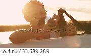 Купить «Male rower preparing boat before practice», видеоролик № 33589289, снято 27 ноября 2019 г. (c) Wavebreak Media / Фотобанк Лори