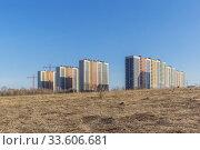 Residential neighborhood Ankudinovsky park in the field, Nizhny Novgorod (2019 год). Стоковое фото, фотограф Дмитрий Тищенко / Фотобанк Лори