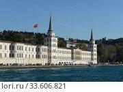 Купить «Здание высшей военной школы Кулели на азиатской части пролива Босфор в Стамбуле», фото № 33606821, снято 3 ноября 2019 г. (c) Free Wind / Фотобанк Лори