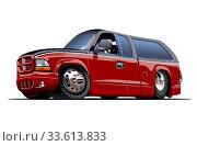 Купить «Vector Cartoon Van», иллюстрация № 33613833 (c) Александр Володин / Фотобанк Лори