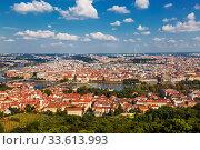 Купить «Top view of Prague, panorama. Czech Republic», фото № 33613993, снято 7 сентября 2014 г. (c) Наталья Волкова / Фотобанк Лори