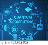 Купить «Quantum computing as modern technology concept», фото № 33622929, снято 5 июня 2020 г. (c) Elnur / Фотобанк Лори