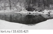 Video of Blue Lakes on Katun river in Altai mountains in winter season. Altai, Siberia, Russia. Стоковое видео, видеограф Serg Zastavkin / Фотобанк Лори