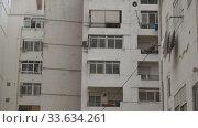 Apartment block exterior. Стоковое видео, видеограф Данил Руденко / Фотобанк Лори