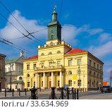 Lublin New Town Hall, Poland. Стоковое фото, фотограф Яков Филимонов / Фотобанк Лори