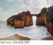 Praia dos Estudantes or Beach of Students in Lagos, Algarve, Portugal (2019 год). Стоковое фото, фотограф Alexander Tihonovs / Фотобанк Лори