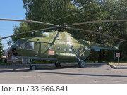Купить «Многоцелевой транспортный вертолет Ми-8Т армейской авиации в парке Победы в городе Вологде», фото № 33666841, снято 20 августа 2019 г. (c) Николай Мухорин / Фотобанк Лори