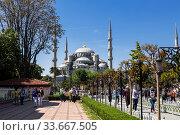 Sultanahmet mosque in Istanbul. Turkey (2015 год). Редакционное фото, фотограф Наталья Волкова / Фотобанк Лори
