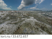 The ebb current draining the Aldabra lagoon. Aldabra, Indian Ocean 2005. Стоковое фото, фотограф Willem  Kolvoort / Nature Picture Library / Фотобанк Лори