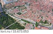 Купить «Salamanca Cathedral and historical center of city, Spain», видеоролик № 33673053, снято 17 июня 2019 г. (c) Яков Филимонов / Фотобанк Лори