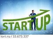 Купить «Concept of green start-up and venture capital», фото № 33673337, снято 4 августа 2020 г. (c) Elnur / Фотобанк Лори