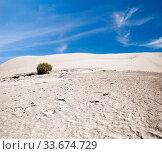 White sand dunes under blue sky, Death Valley, California. Стоковое фото, фотограф Zoonar.com/Dmitry Kushch / age Fotostock / Фотобанк Лори