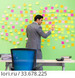 Купить «Businessman with many conflicting priorities», фото № 33678225, снято 24 мая 2018 г. (c) Elnur / Фотобанк Лори