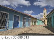Купить «Tower of St. Francis of Assisi Convent and Church in UNESCO World Heritage Trinidad, Cuba.», фото № 33689313, снято 19 марта 2020 г. (c) age Fotostock / Фотобанк Лори