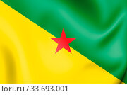 Купить «3D Flag of French Guiana. 3D Illustration.», фото № 33693001, снято 14 июля 2020 г. (c) easy Fotostock / Фотобанк Лори