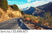 Mountain road leading to Sierra Nevada. Spain (2019 год). Стоковое фото, фотограф Alexander Tihonovs / Фотобанк Лори