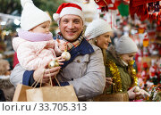 Happy father with little daughter. Стоковое фото, фотограф Яков Филимонов / Фотобанк Лори